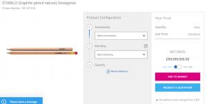 £100,000 branded pencil